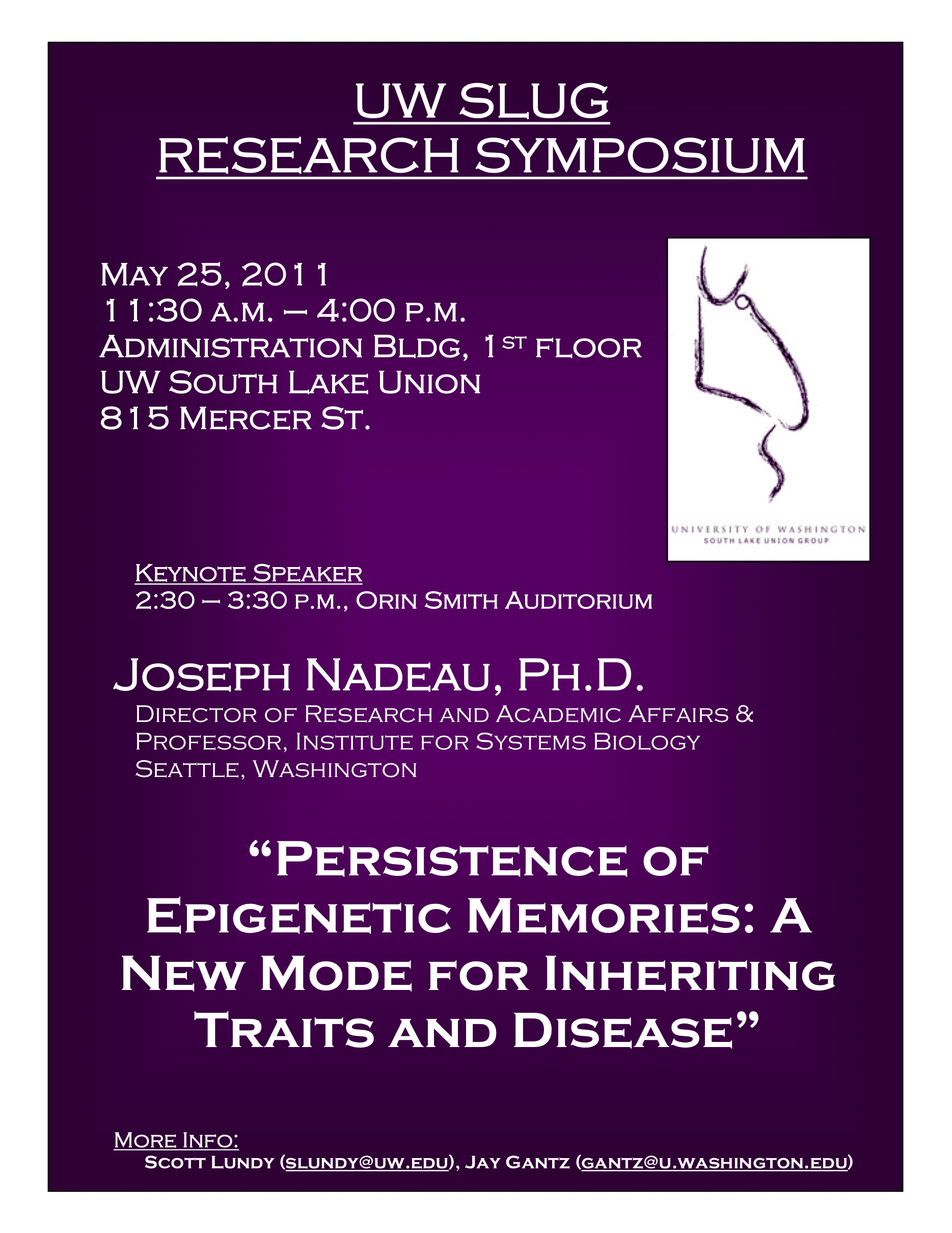UW South Lake Union Group Research Symposium