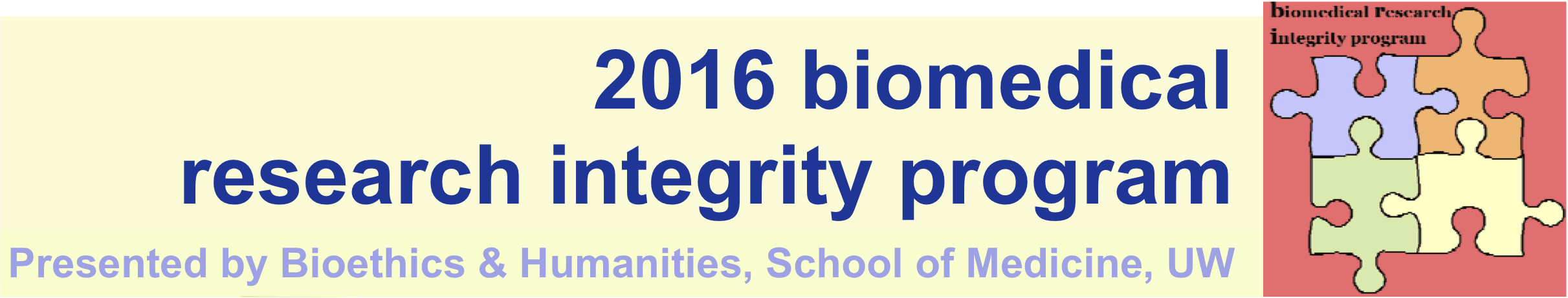 Biomedical Research Integrity Program