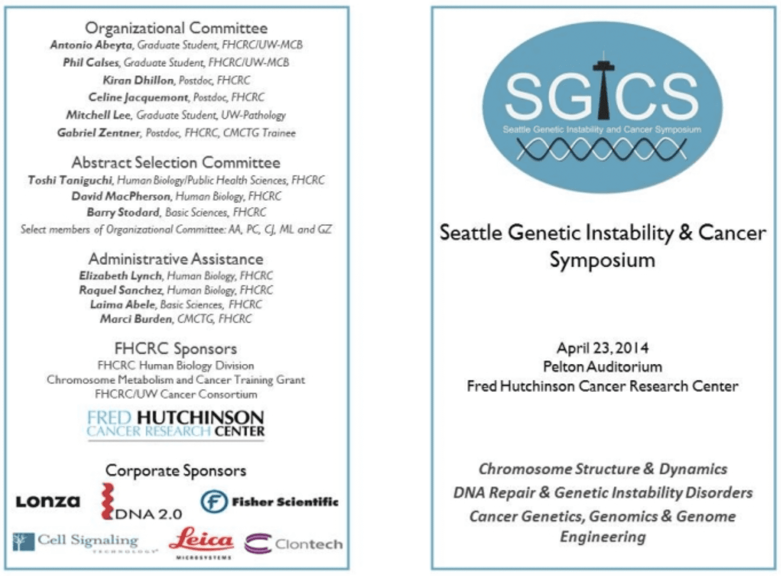 Seattle Genetic Instability And Cancer Symposium